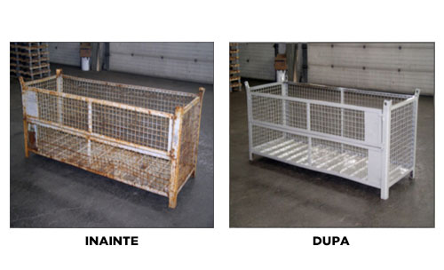 Used metal pallets