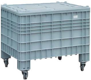 Plastic, mobile storage boxes