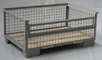 Half metal pallet boxes 1